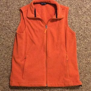Orange Lands' End Fleece vest